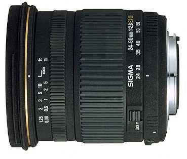 Objectiva Lente Sigma 24-60mm F2.8 EX DG D