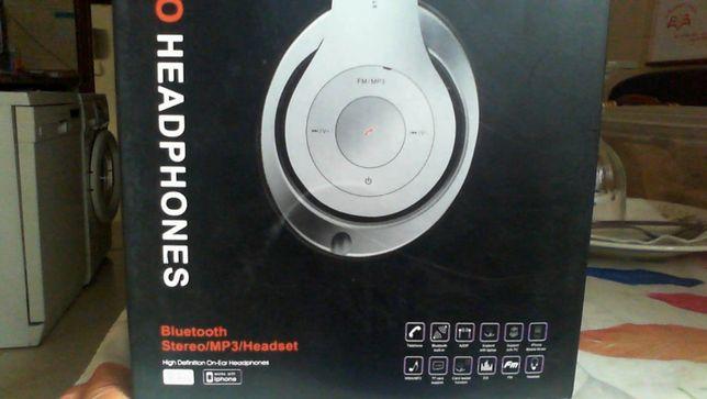 Auscultadores Bluetooth radio/chamadas/cartoes memoria novo