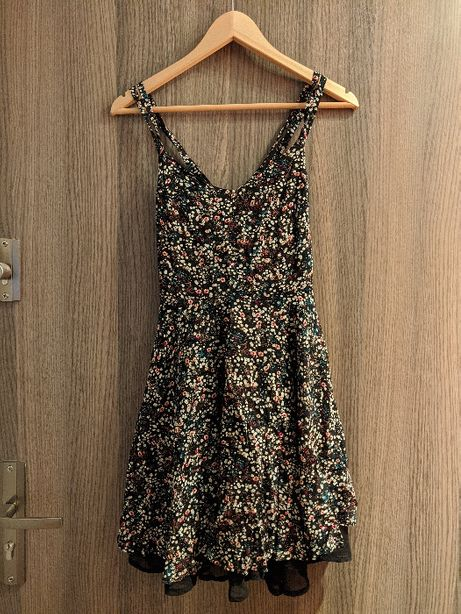 Tally Weijl sukienka na ramiączkach z podszewką w kwiatki S
