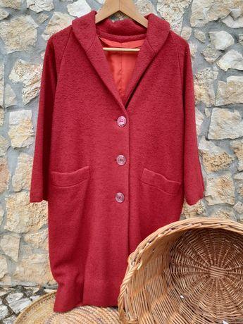 Casaco comprido vermelho anos 60 M