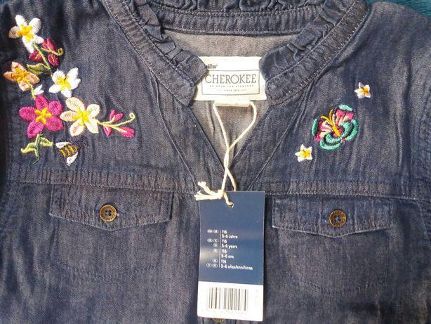 Miękka koszula a'la jeans 116