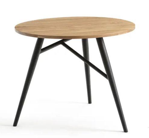Mesa redonda com tampo em carvalho, 3 lugares / La Redoute