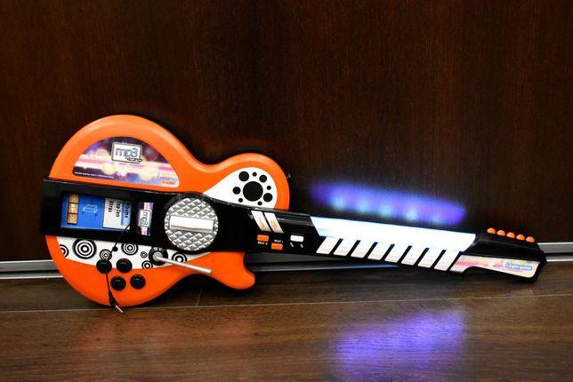 Simba Gitara Elektryczna 66cm Światło Dźwięk MP3