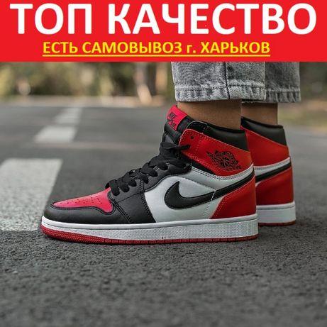 """Кроссовки Nike Air Jordan Retro 1 """"Red/Black"""" Женские/Мужские найк"""
