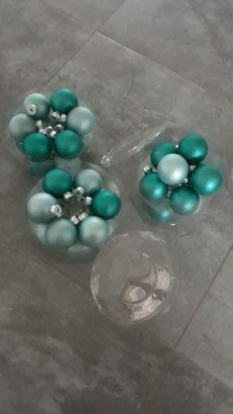 bombki miętowe male duzo szklane