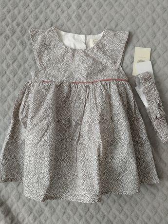 Sukienka nowa 74 + opaska