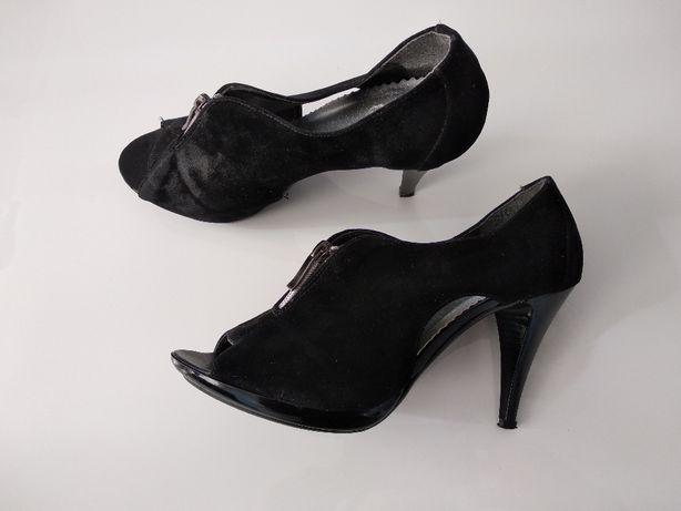 Czółenka damskie, buty na obcasie