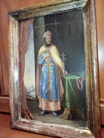 Старинная икона С. Равноапостольный В. К. Владимерь.