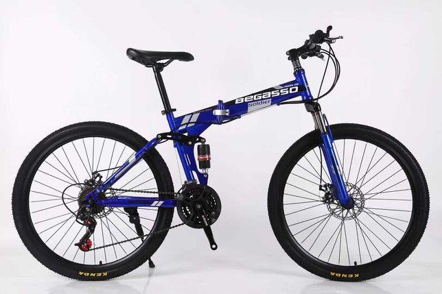 """Велосипед складной 26"""" 17"""" синий, оплата частями моно/приват 6 мес"""
