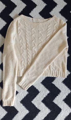 Piękny sweterek kremowy, crop top