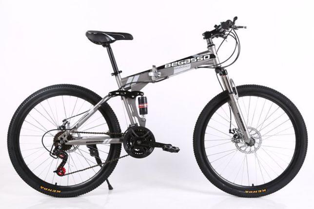 """Велосипед складной 26"""" Begasso 17"""" серый, есть оплата частями"""