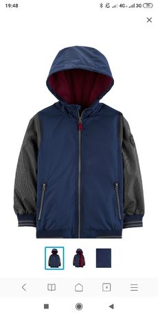 Куртка Carter's Осень на рост 130 -140см 7-8лет 2шт.Carters