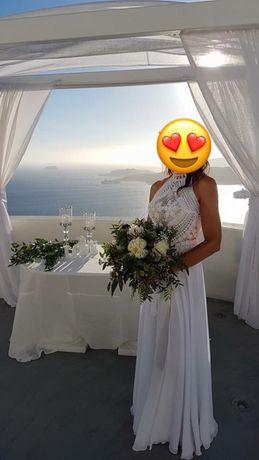 Suknia ślubna BOHO rozm. S