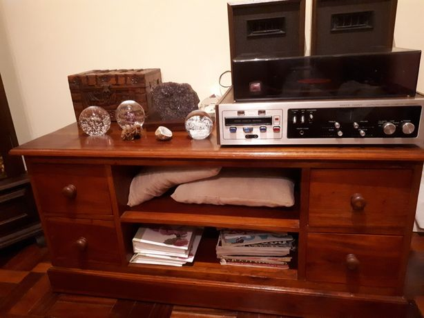 Móvel rústico - madeira mogno maciço- Vintage - estilo exótico