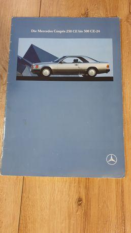 Mercedes 124 coupe katalog folder reklamowy