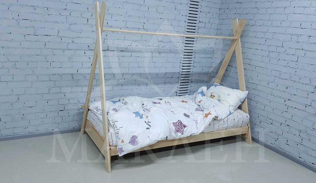 Незвичне дитяче букове  ліжко 90*200