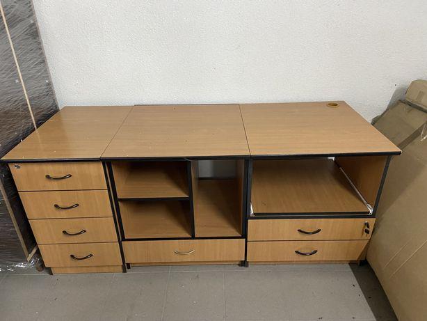 Komplet mebli biurowych 5 elementów + fotel prezesa