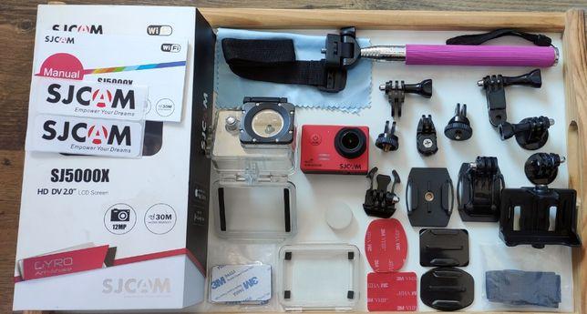 SJCAM 5000x, Duży zestaw,Kompatybilny GoPro, Funkcja Wideorejestratora