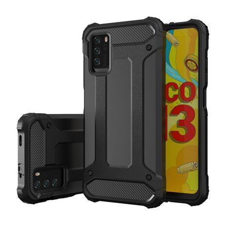 Capa Hybrid Tough Rugged Xiaomi Poco M3 / Xiaomi Redmi 9T Preto