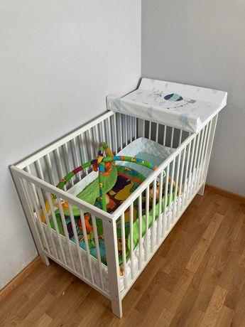 Łóżeczko dziecięce + materac + ochraniacze komplet IKEA stan idealny