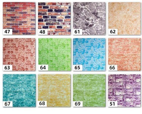 Самоклеющиеся 3D панели кирпич (декоративные обои) 700x770 Моющиеся