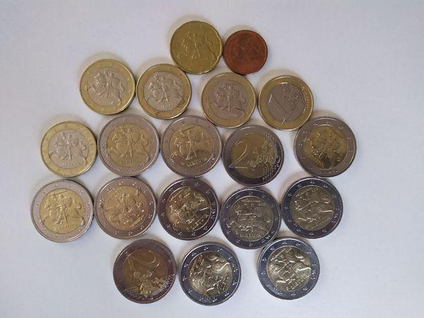 Продам Рыцарей - 1, 2 евро монеты Литовской республики.