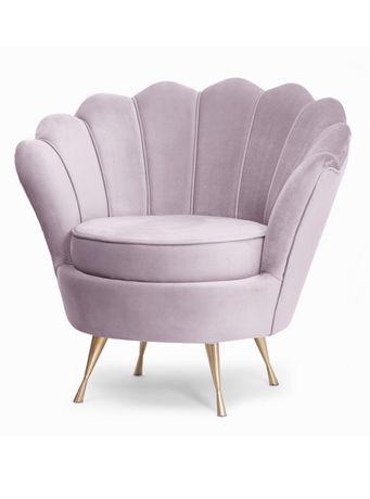 Fotel Muszla stylowy uszak do salonu duży wybór tkanin
