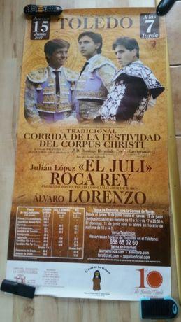Plakat z korridy w Toledo 2017