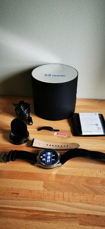 Zegarek smartwatch Samsung Gear classic + szkło + tylna folia carbon