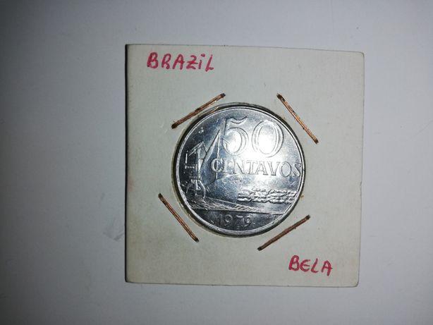 Moeda 50 Centavos Brasil Ano 1979