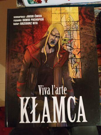 Jakub Ćwiek Kłamca Viva l'arte komiks