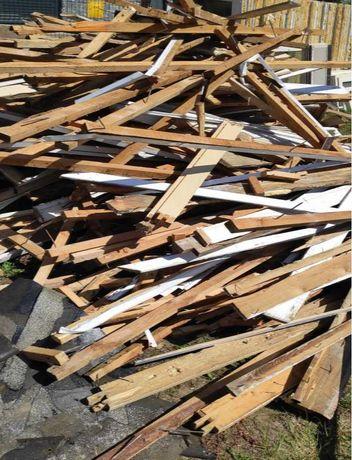Drewno porozbiórkowe opałowe