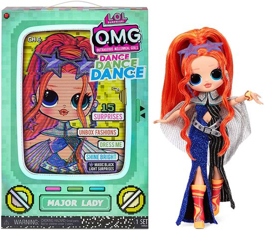 Кукла ЛОЛ Леди Крутышка lol omg Major Lady OMG Dance Surprise оригинал