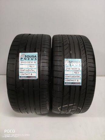2 pneus semi novos 245-35-18 Continental - Oferta dos Portes