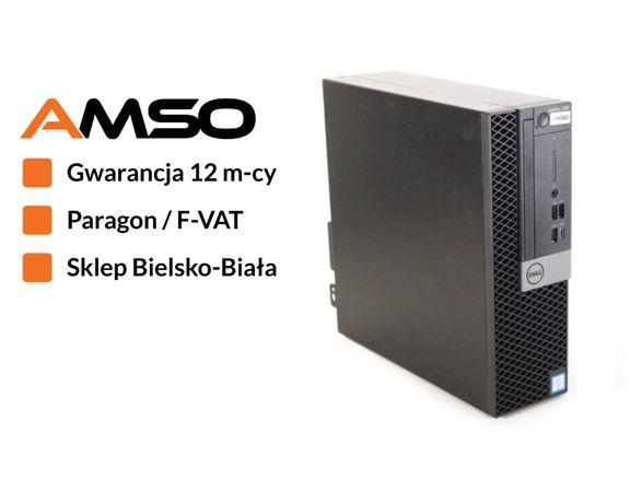 Mocny komputer Dell 7060 Intel i5-8500 dysk SSD gwarancja 12 miesięcy