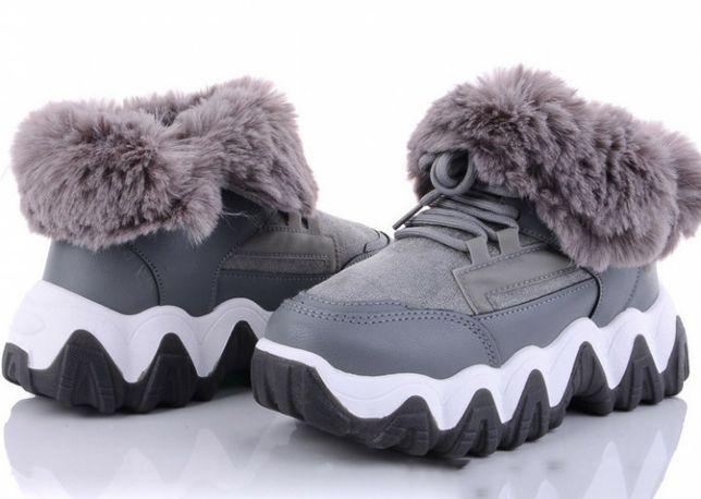 Зимние кроссовки ботинки