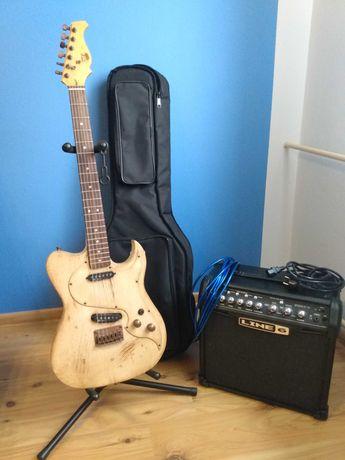 Gitara AXL El Dorado Tele z piecykiem i akcesoriami