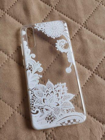 Etui case na telefon transparentny kwiaty huawei p20