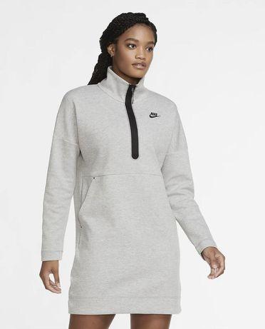 Платье Nike Sportswear Tech Fleece WMNS Half-Zip Dress/p.S/ОРИГИНАЛ/