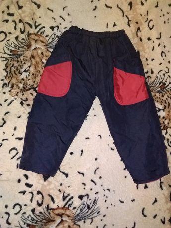 Теплые, зимние штаны для мальчика 1-3 лет