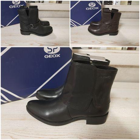 Geox Кожаные ботинки демисезонные, полусапожки, 36,37, 39, 40
