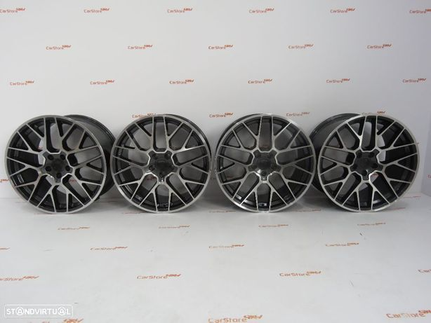 """Jantes Look Porsche Macan RS Spyder 20 """"  9 et 25 + 10 et 19 5x112 Antracite + Polido"""