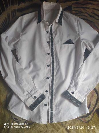 Мужская белая рубашка 44-46