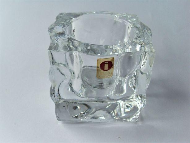 Fińska Iittala szkło kryształ świecznik
