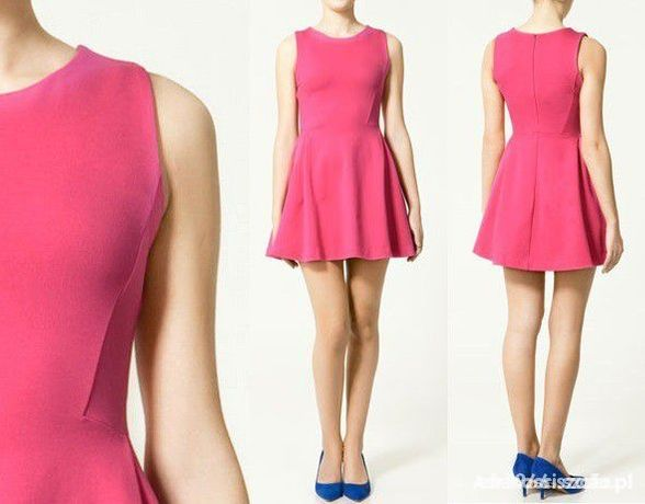 Sukienka Zara neon róż