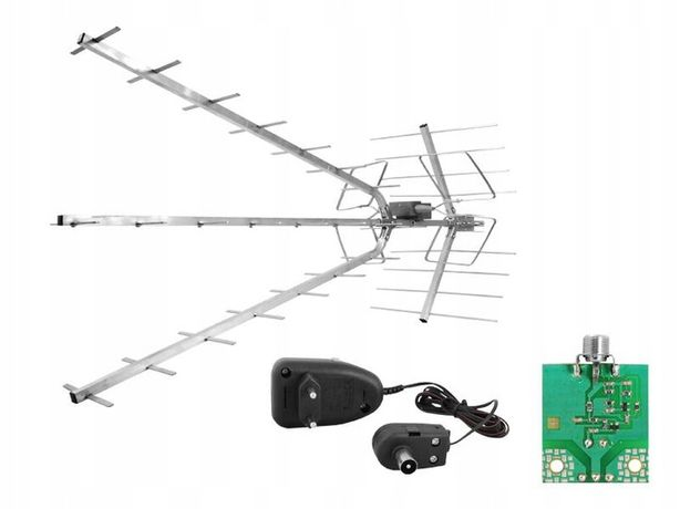 Antena DVB-T AP-TRIA-UNI COMBO VHF/UHF MUX-8 polaryzacja pionowa(V) lu