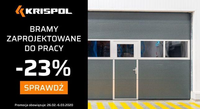 Brama przemysłowa KRISPOL K2 IS 4000x4000 rabat -23% tylko do 06 MARCA