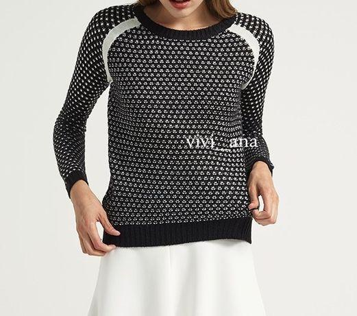 sweter Even&Odd czarno biały (XS/S)
