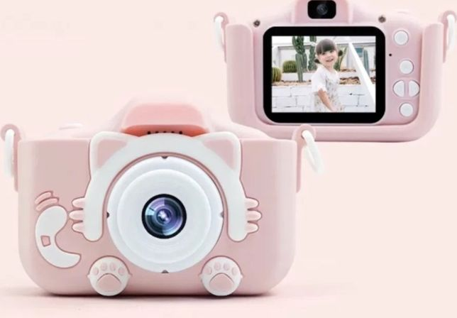 Детский цифровой фотоаппарат Котики с селфи камерой.