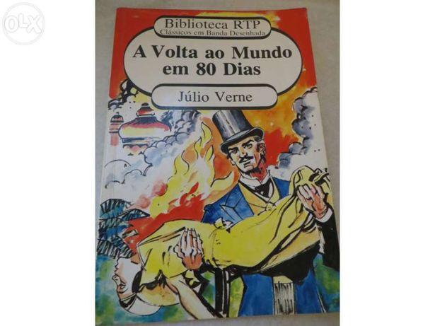 O livro banda desenhada volta ao mundo em 80 dias - Julio verme